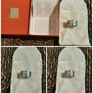 James Avery Faith Hope Love Sterling Silver Ring